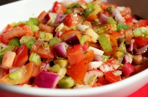 Tomato and caper salad