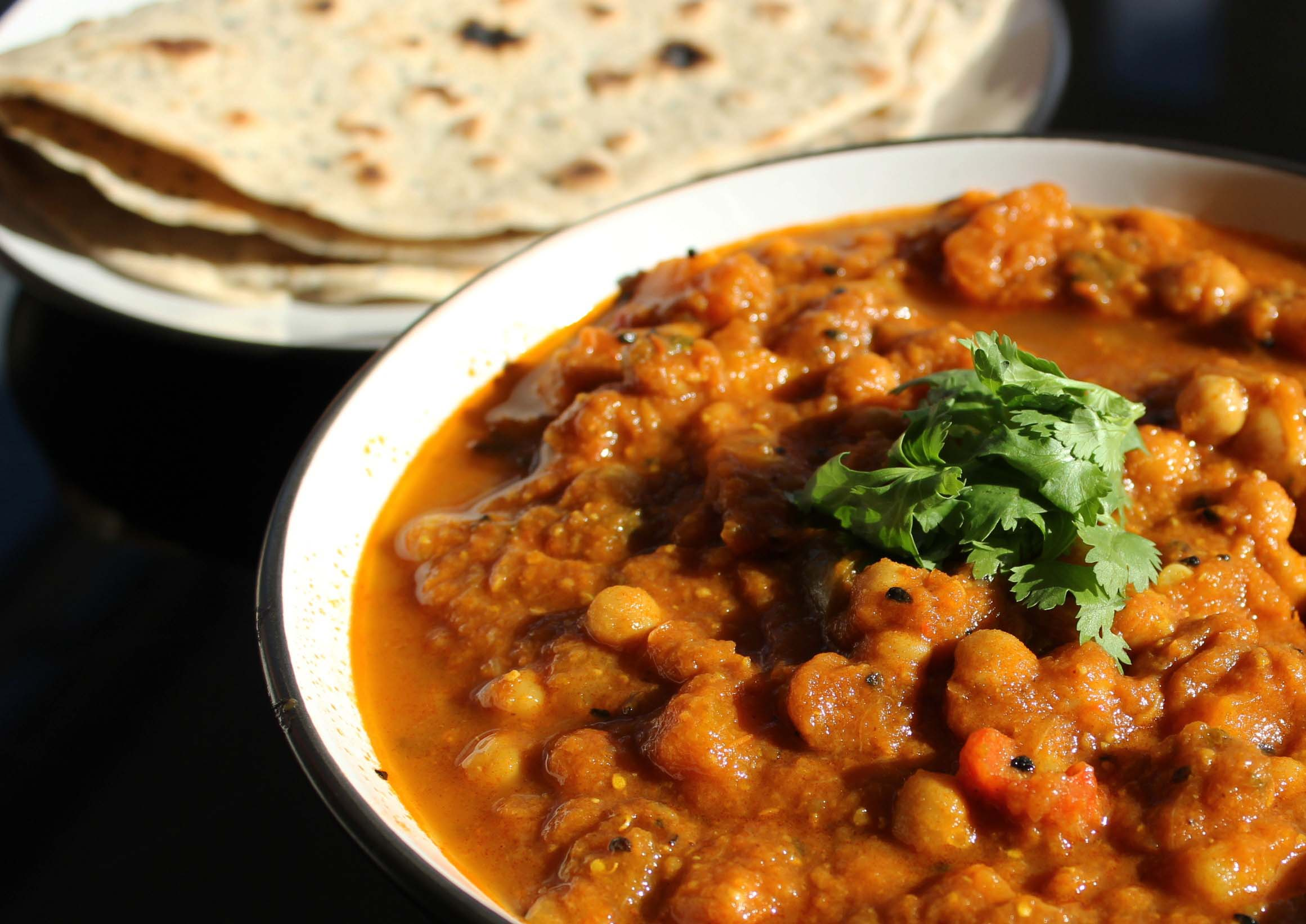 Chana Masala Indian vegetarian Chickpea curry